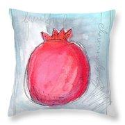 Fruitful Beginning Throw Pillow by Linda Woods