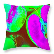 Fruitilicious - Lime And Green Apples - Photopower 1817 Throw Pillow