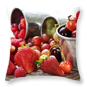 Fruits And Berries Throw Pillow