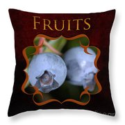 Fruits Gallery Throw Pillow