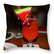 Fruity Coctail Throw Pillow