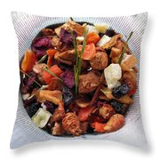 Fruity Tea With Bamboo Leaves Throw Pillow