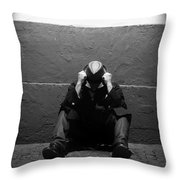 Frustration In Thought. Throw Pillow