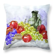 Fruit After Him Throw Pillow