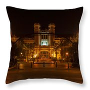 Fsu Westcott Building/ruby Diamond Auditorium Throw Pillow by Frank Feliciano