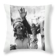 Ft. Apache Homage 1948 Ft. Apache Celebration Ft. Apache Arizona Saluting Apaches 1970 Throw Pillow