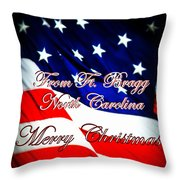 Ft. Bragg - Christmas Throw Pillow