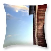 Ft Collins Barn And Moon 13586 Throw Pillow