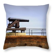 Ft Gaines - Cannon Throw Pillow
