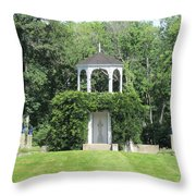 fu dog garden and Buddha Pavillion Throw Pillow