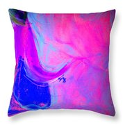 Fuchsia Breeze Throw Pillow