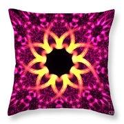 Fuchsia Flowers Throw Pillow