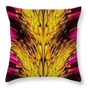 Fuchsia Sensation Abstract Throw Pillow