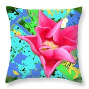 Fuchsia Tulip By M.l.d. Moerings 2012 Throw Pillow