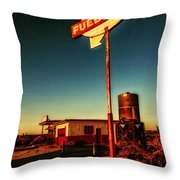 Fuel Stop Throw Pillow