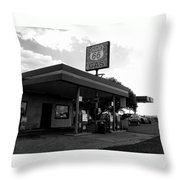 Fueling Up On 66 Throw Pillow
