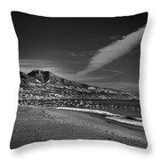 Fuengirola Beach Throw Pillow