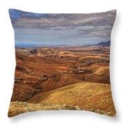 Fuerteventura Iterior Panorama Throw Pillow