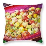 Fuji Apples In The Water Throw Pillow