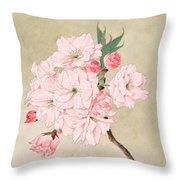 Fukurokuju - God Of Longevity - Vintage Watercolor Throw Pillow