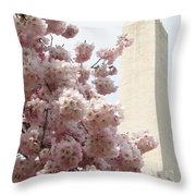 Full Bloom In Dc Throw Pillow