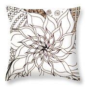 Full Bloom V Throw Pillow