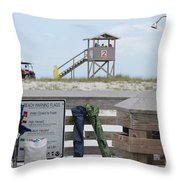 Full Day At The Beach Throw Pillow