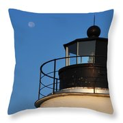 Full Moon At Piney Point Throw Pillow