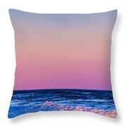 Full Moon At Sea Throw Pillow by Ryan Moore