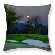 Full Moon At The Philadelphia Cricket Club Throw Pillow by Bill Cannon
