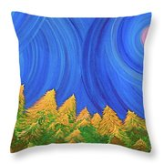 Full Moon Forest By Jrr Throw Pillow