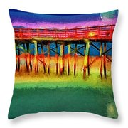 Full Moon In Flagler Throw Pillow