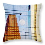 Full Moon In The City Throw Pillow