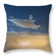 Full Moon Light Throw Pillow