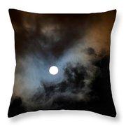 Full Moon Night Throw Pillow