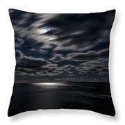 Full Moon On The Bay Of Fundy Throw Pillow