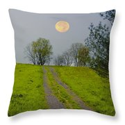 Full Moon On The Rise Throw Pillow
