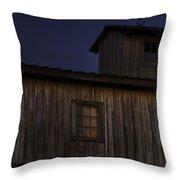 Full Moon Over Barn Throw Pillow