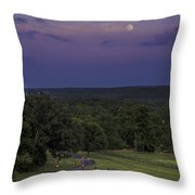 Full Moon Over The Ozarks Throw Pillow