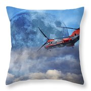 Full Moon Rescue Throw Pillow by Betsy Knapp