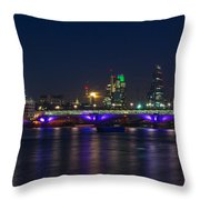 Full Moon Rise Behind St Pauls Throw Pillow by Andrew Lalchan
