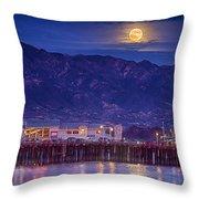Full Moon Rising #2 Throw Pillow