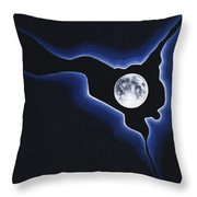 Full Moon Silver Lining Throw Pillow