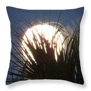 Full Moon Through The Palms Throw Pillow