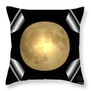 Full Moon Unfolding Throw Pillow