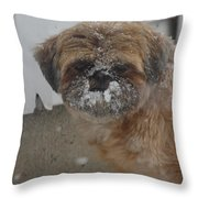 Full Of Snow Throw Pillow