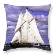 Full Sails Ahead Throw Pillow