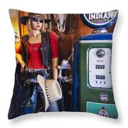 Full Service Route 66 Gas Station Throw Pillow