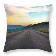 Full Speed Ahead Throw Pillow