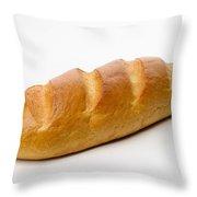 Full White Bread Throw Pillow